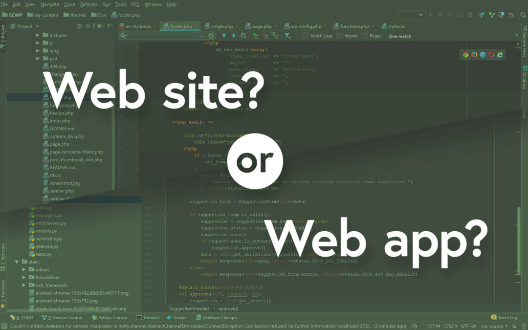 What's a web site, what's a web app, and why does it matter?